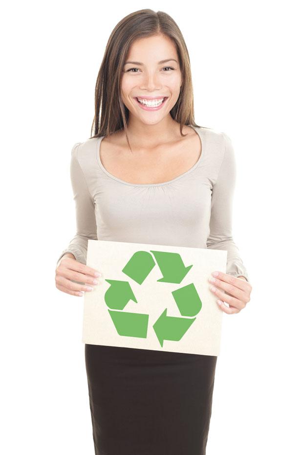 človek in recikliranje