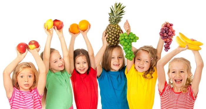 otroci in zdrava preharana