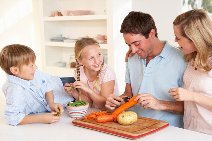 Družina kuha