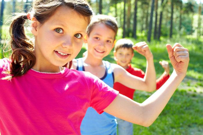 Otroci in telovadba