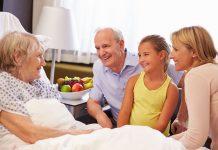 Obisk svojcev v bolnišnici
