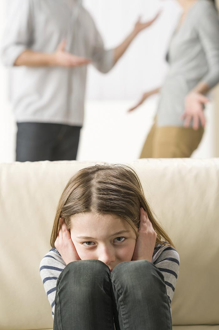 Otrok in ločitev staršev, prepir staršev