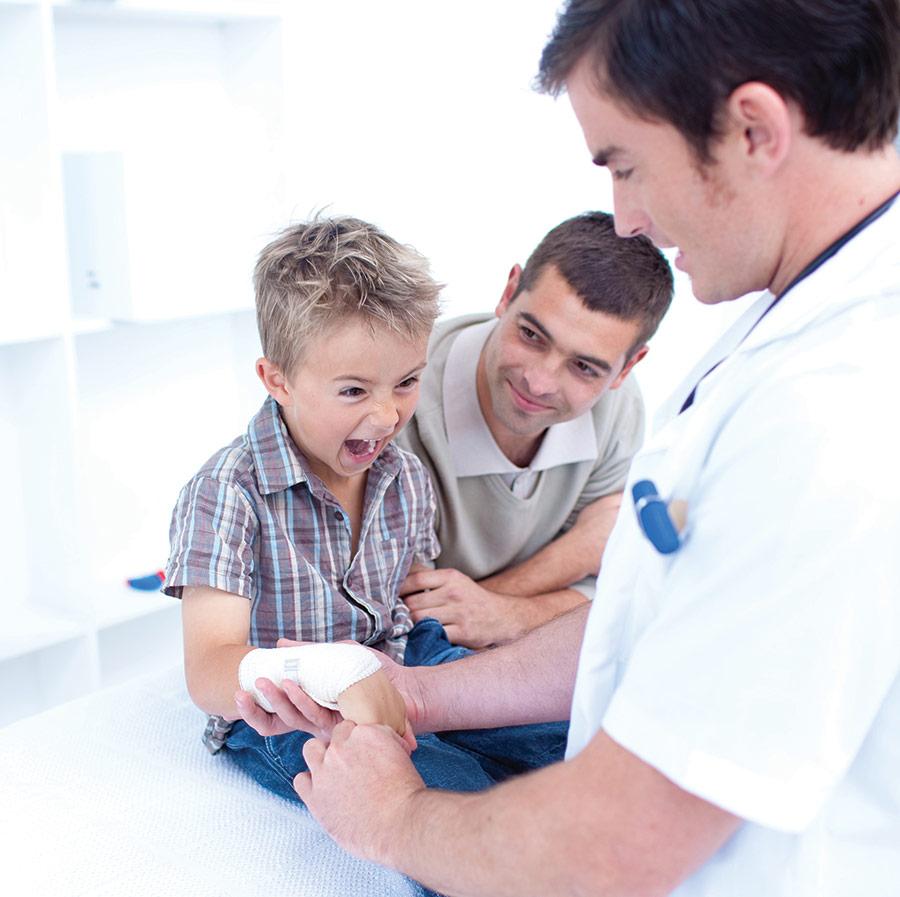 Otrok se boji zdravnika